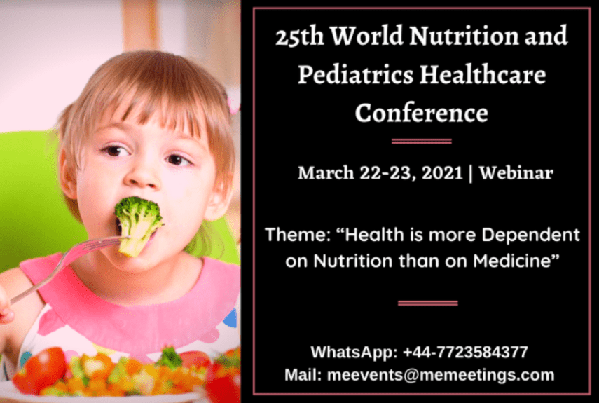 25th World Nutrition and Pediatrics Healthcare Conference