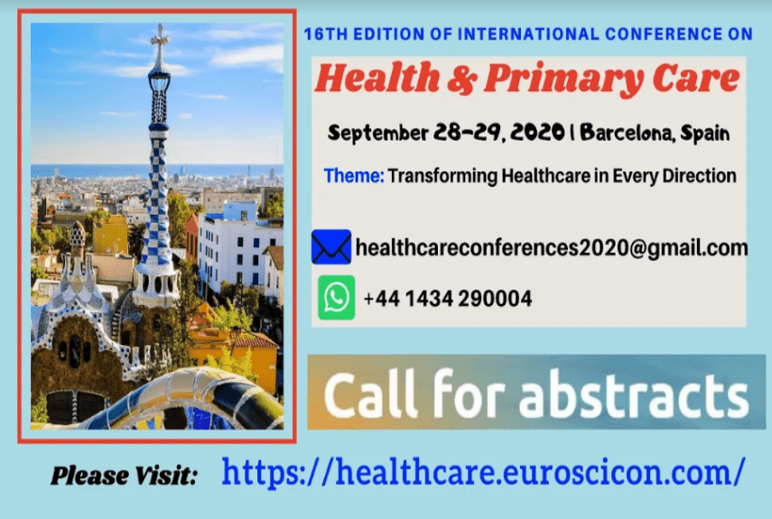 16th Edition of International Conference on Health & Primary Care