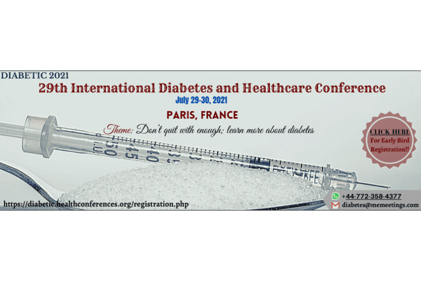 29th International Diabetes and Healthcare Conference